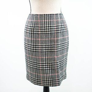 Talbots Wool Houndstooth Pencil Skirt Size…